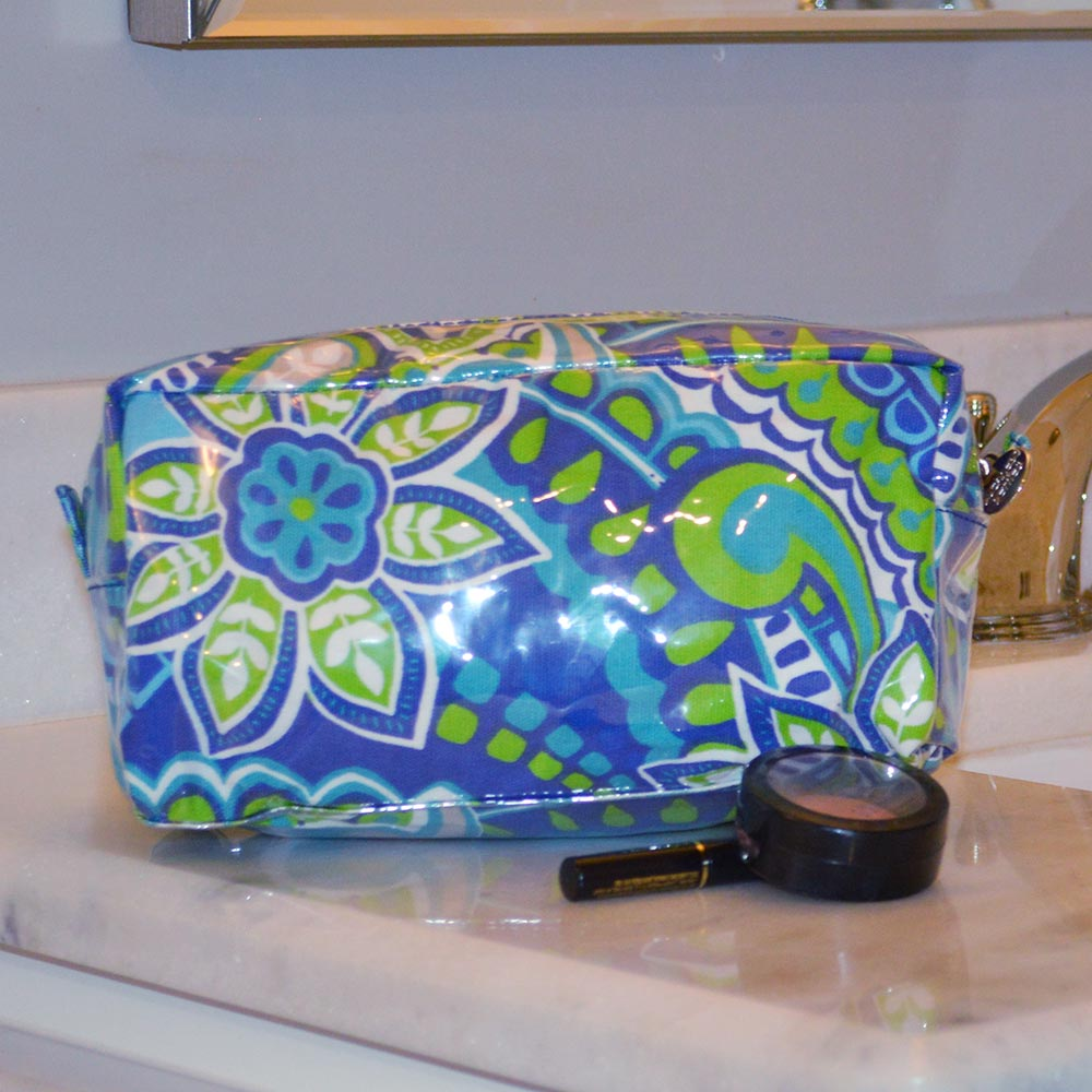 turqs and caicos cosmetic zipper bag