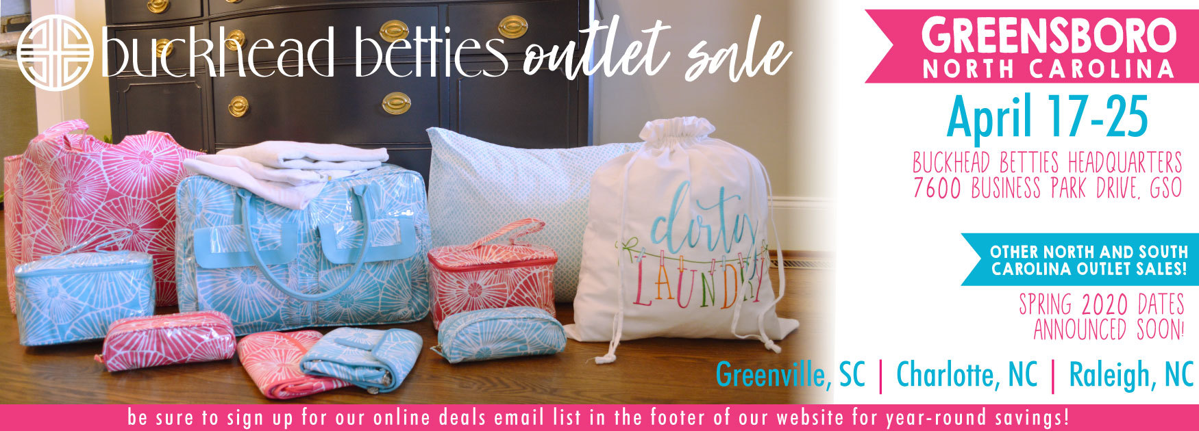 see you at our spring 2020 outlet sales