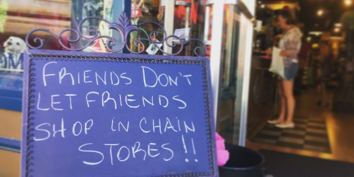 Shop local - even out of town