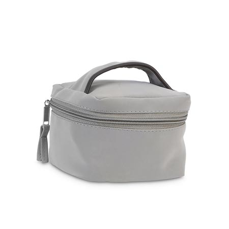 gray suede jewelry case