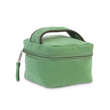green suede jewelry case