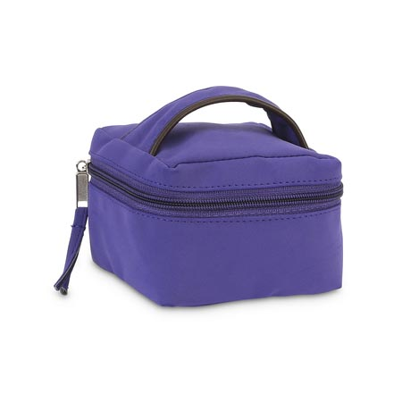 purple suede jewelry case