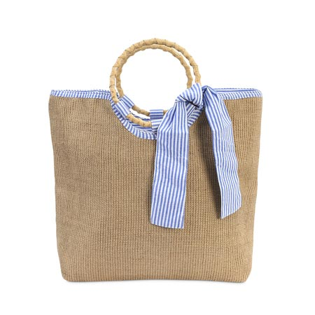 charleston cape cod market bag blue/white lining