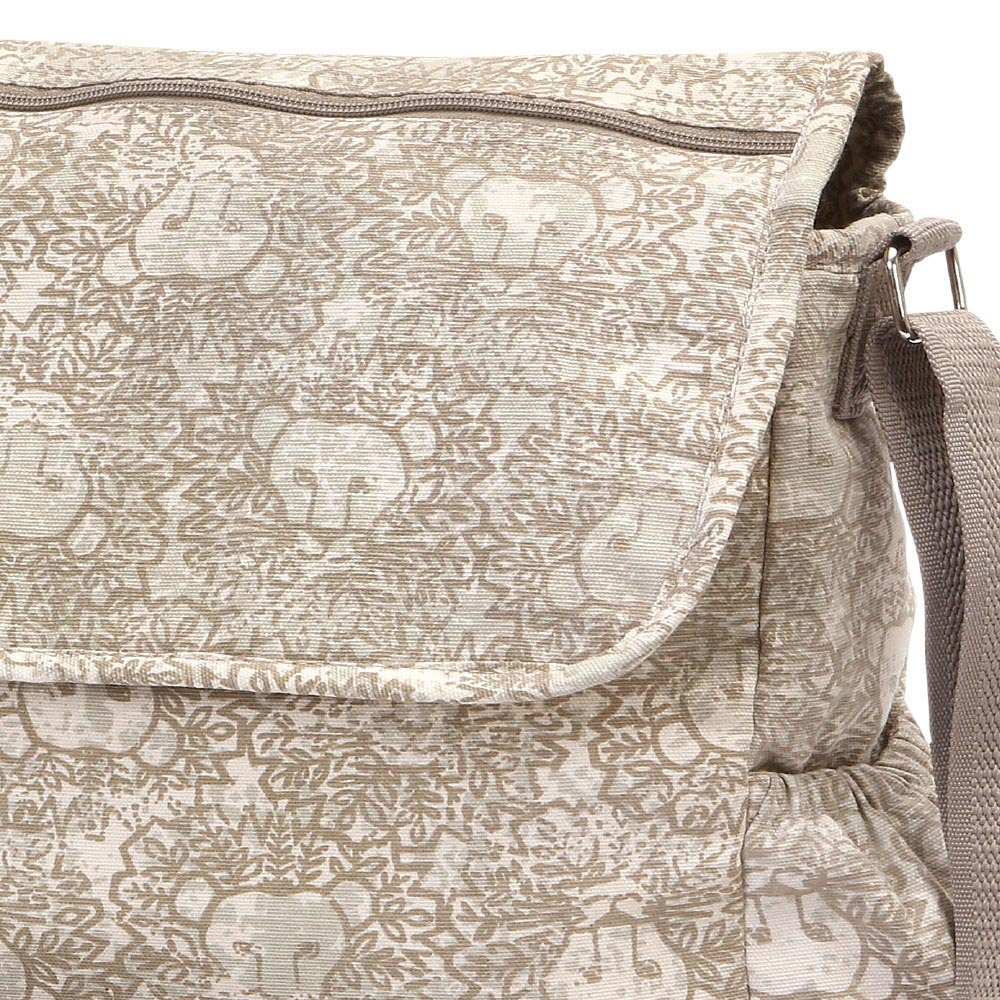 lion around khaki diaper bag
