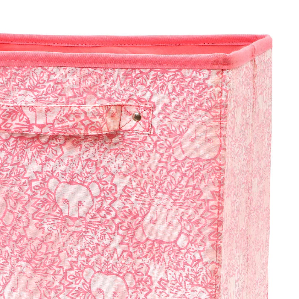 lion around pink flat bin