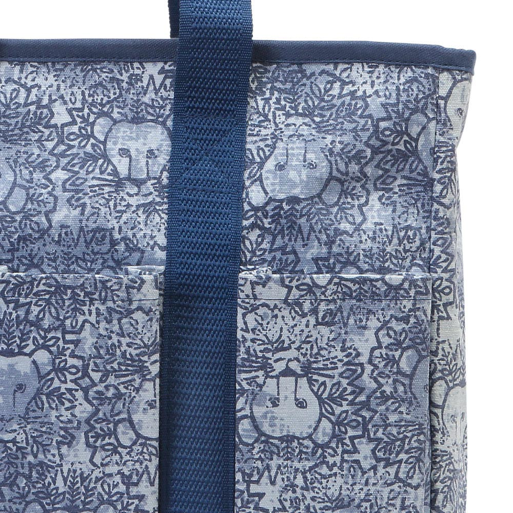 lion around blue everyday tote