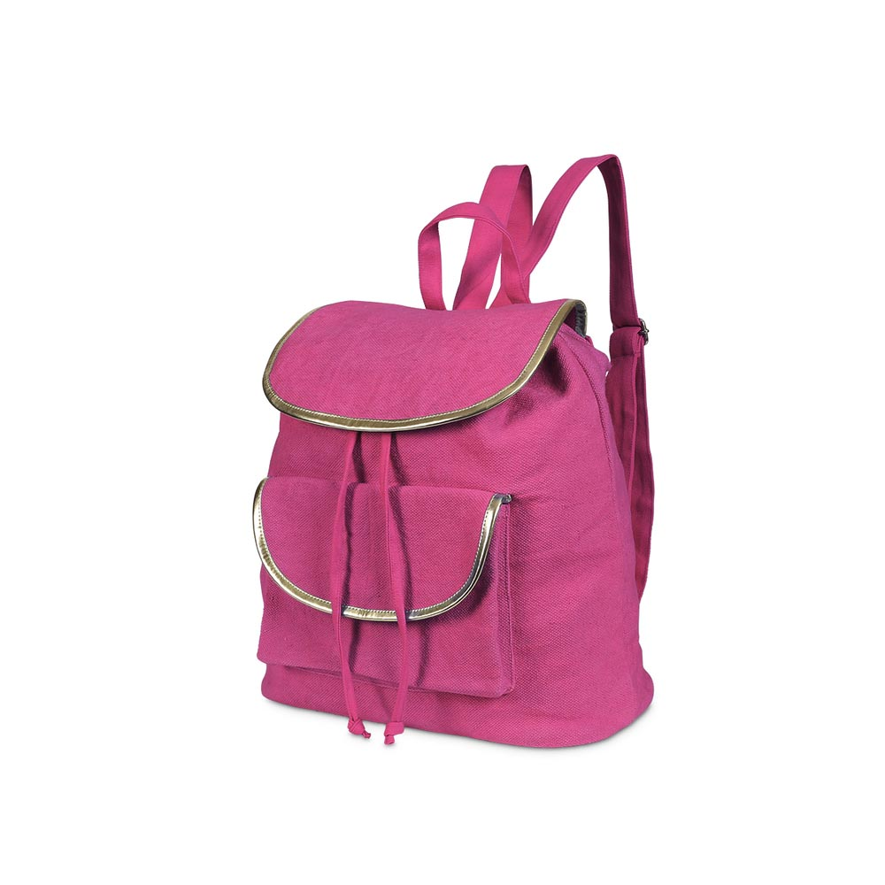 durry backpack pink, gold trim