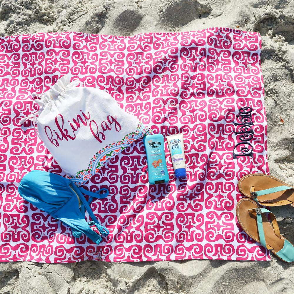 don't fret pink beach blanket