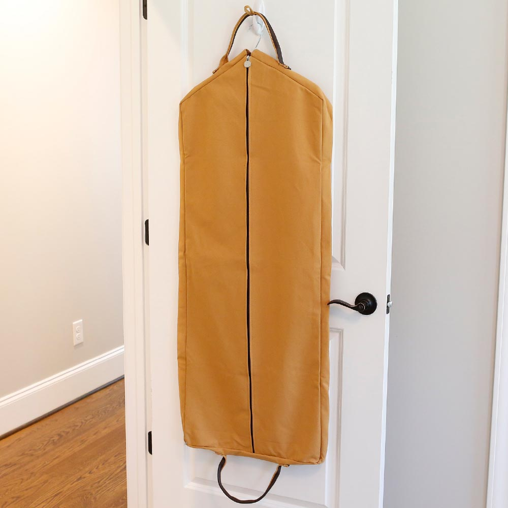 chandler gold/choc garment bag