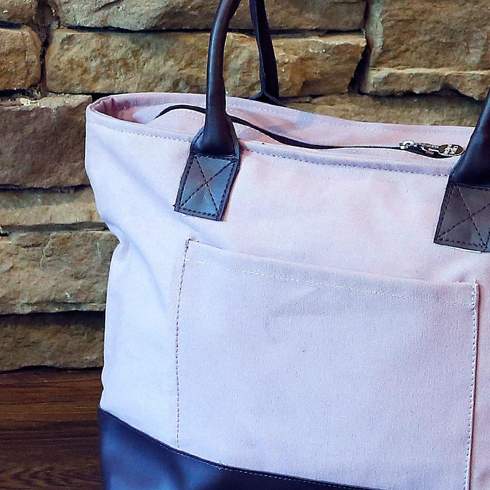 chandler elderberry/choc shoulder tote
