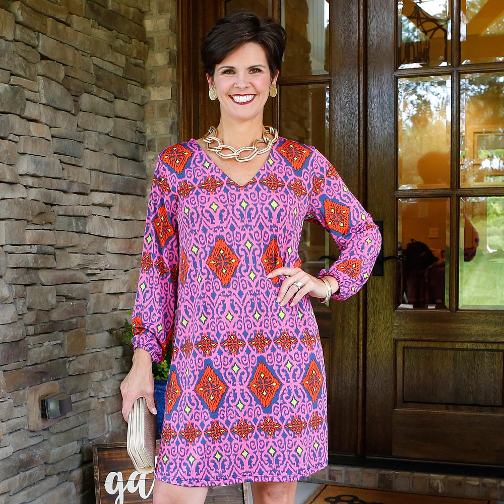 perfect zen amara poly-knit dress
