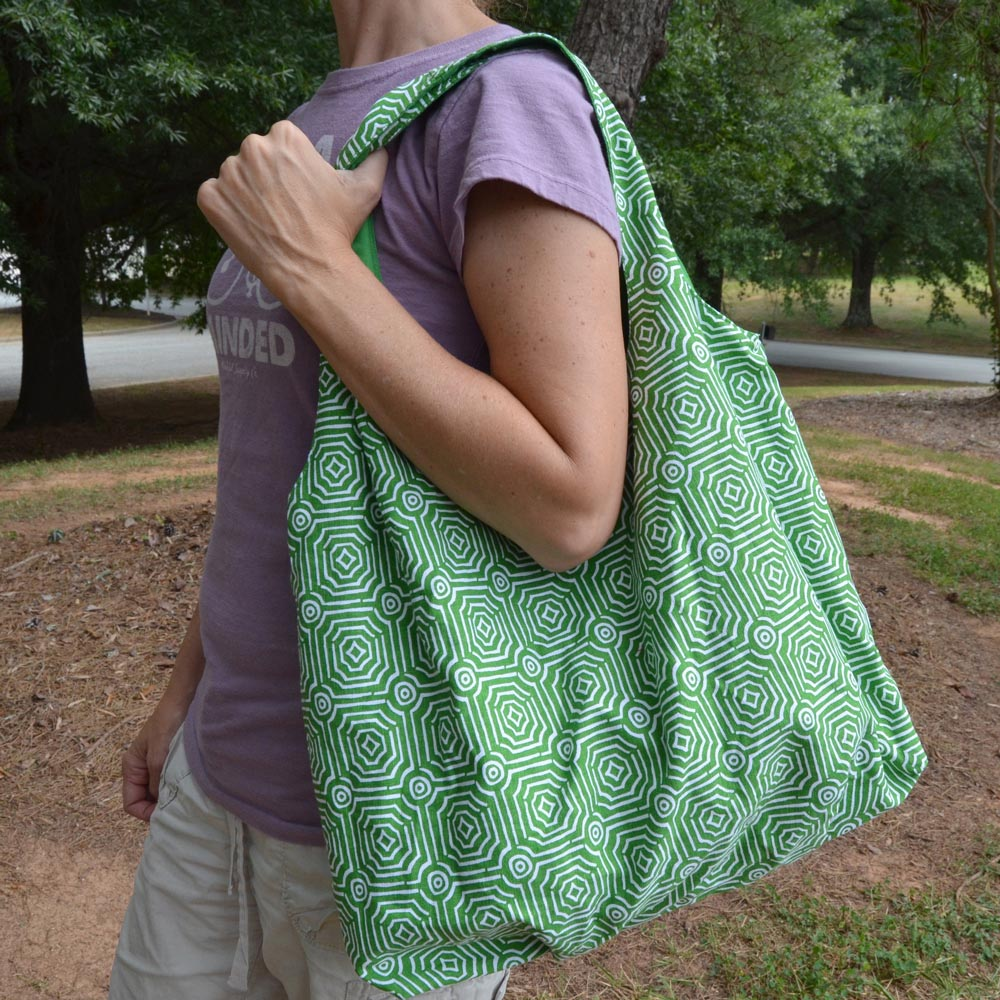 echo green reversible HOBO bag