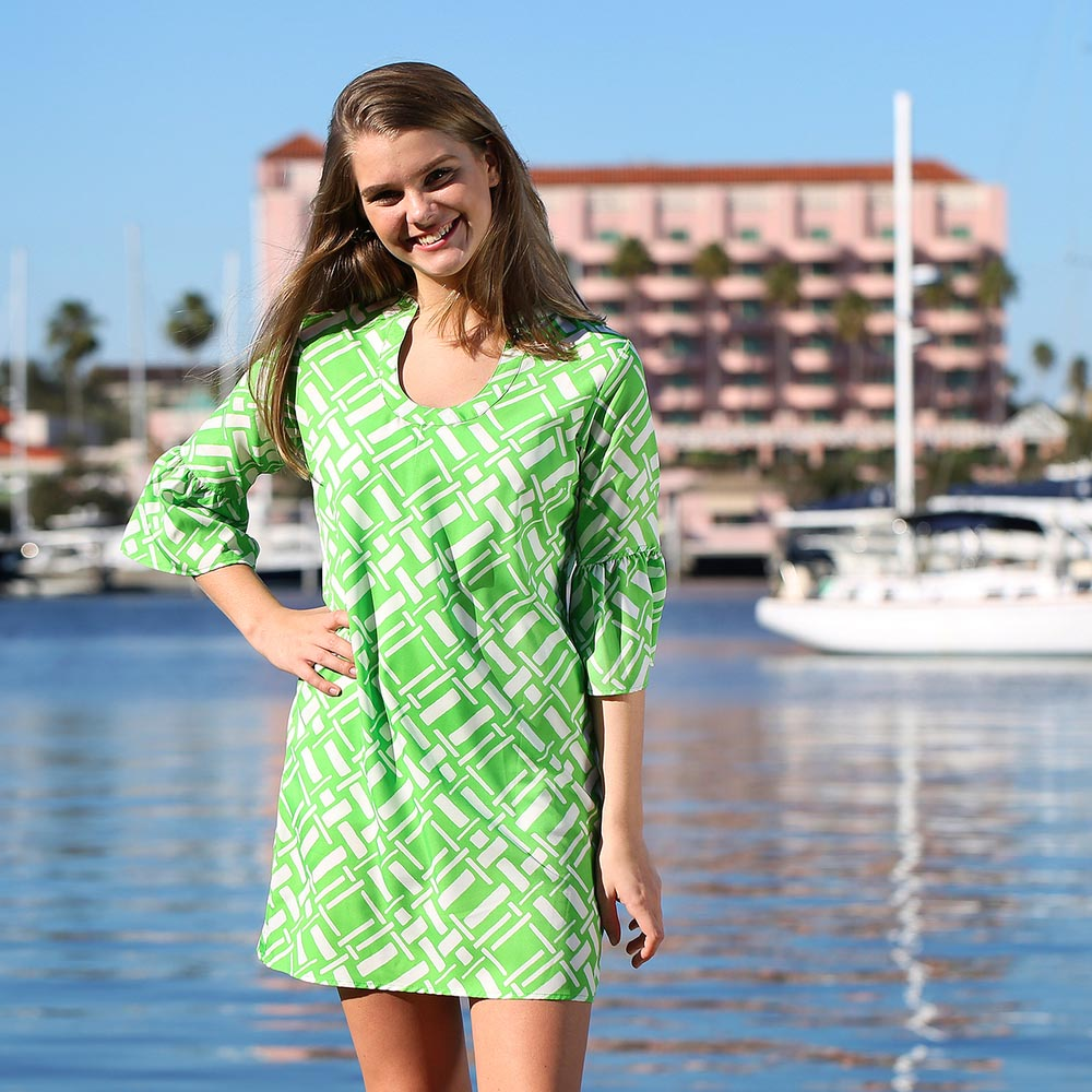 key largo green parker dress
