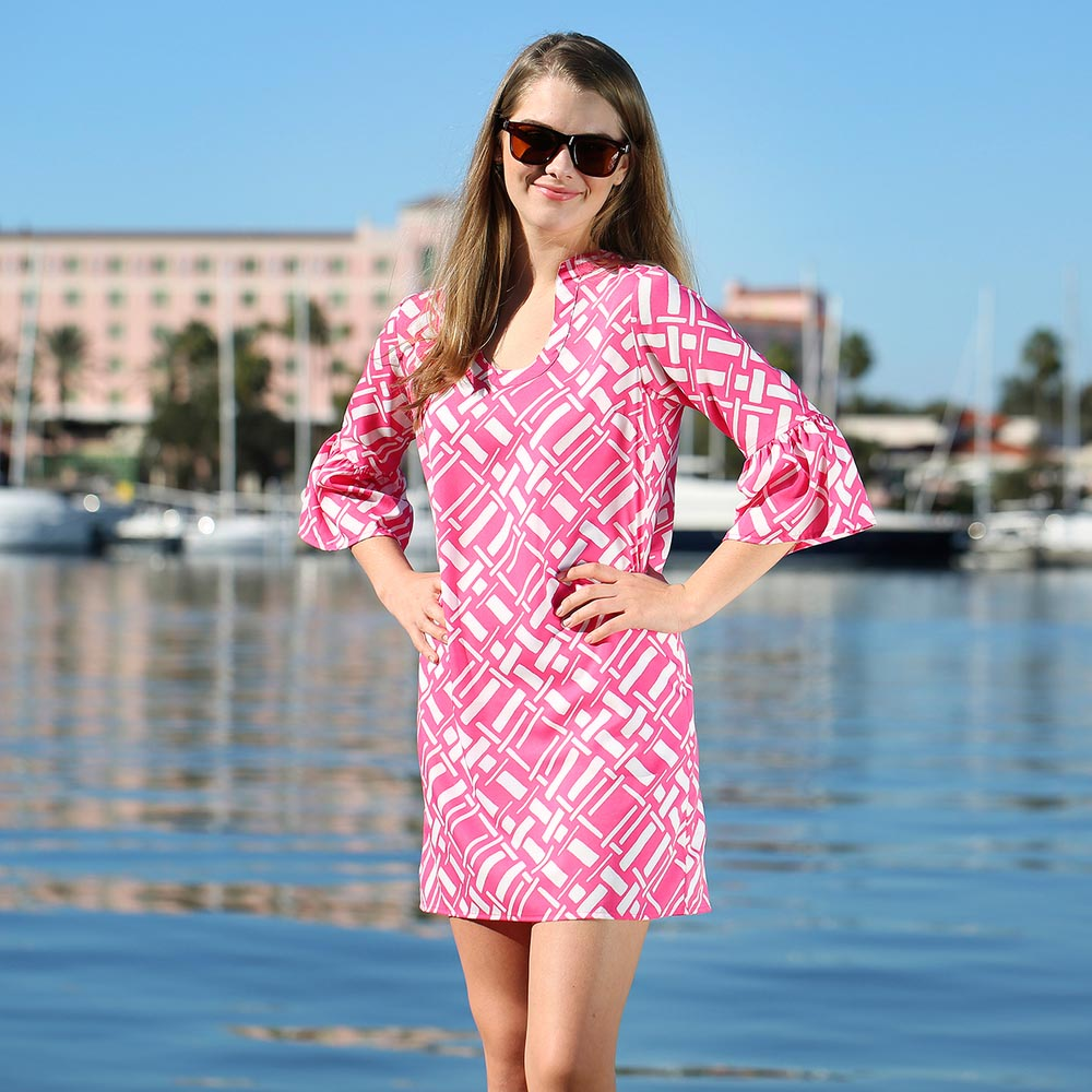 key largo pink parker dress