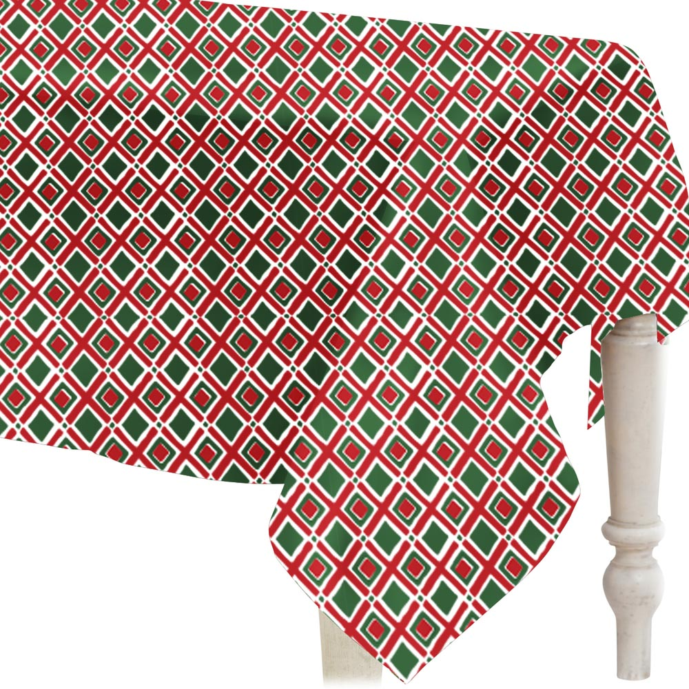 "holiday times square 52"" square tablecloth"
