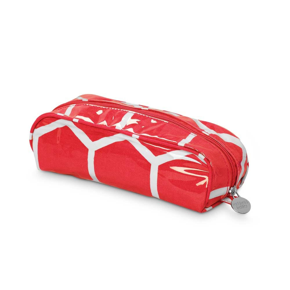 the bee line red pencil pouch