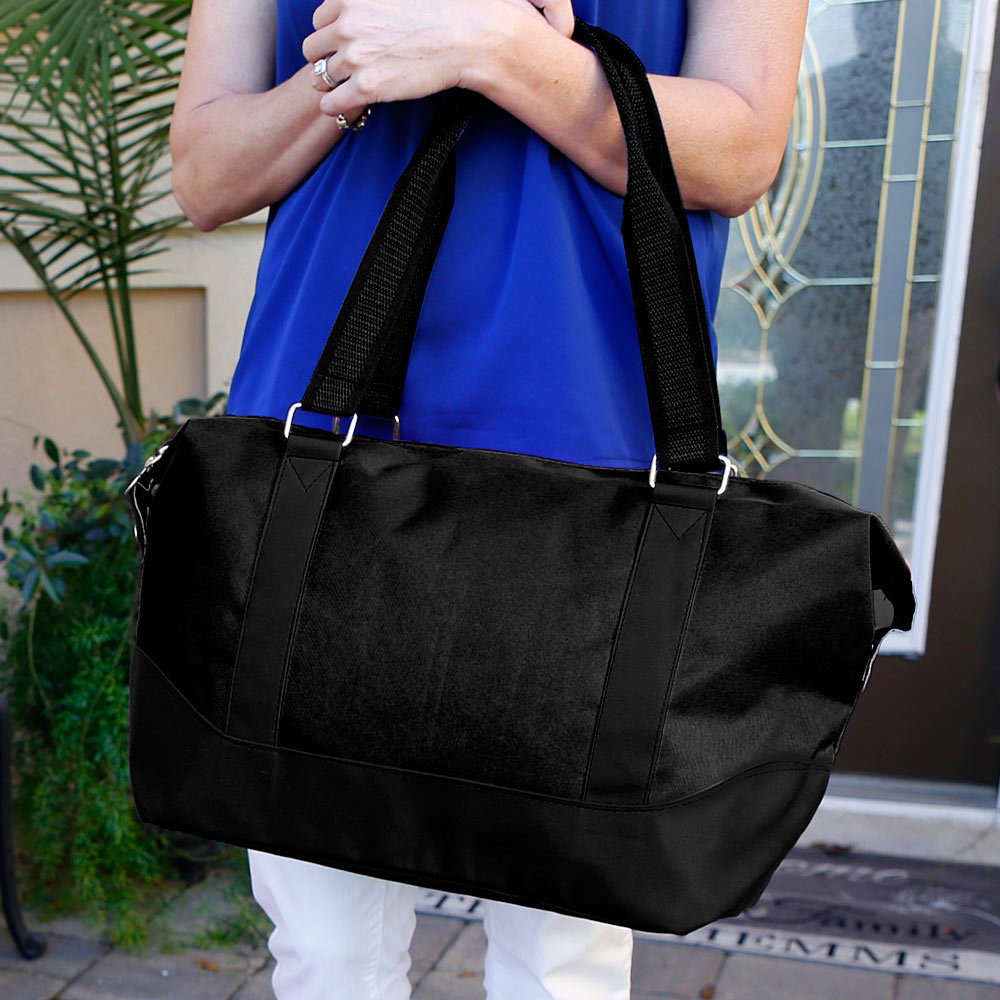 black nylon medium duffle