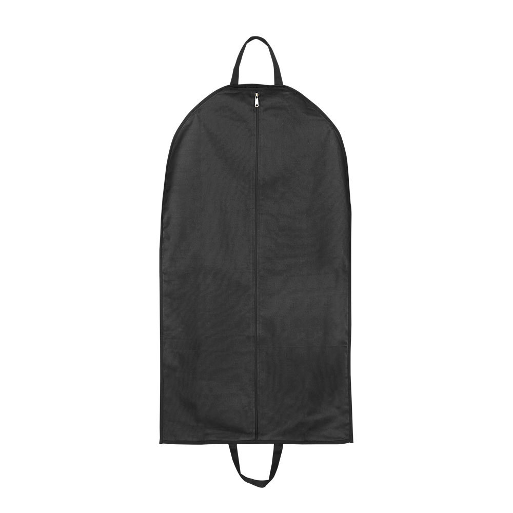 black nylon garment bag