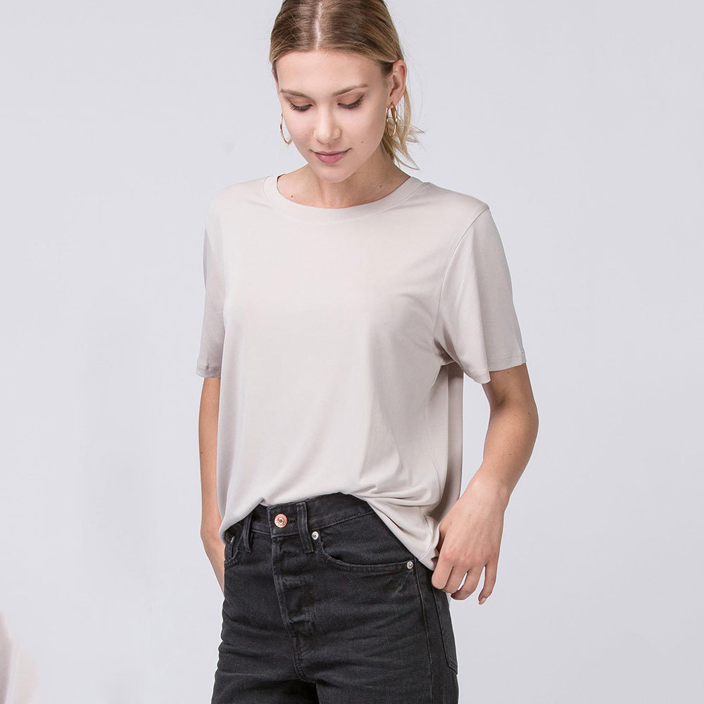 putty silky feel tshirt with round neck