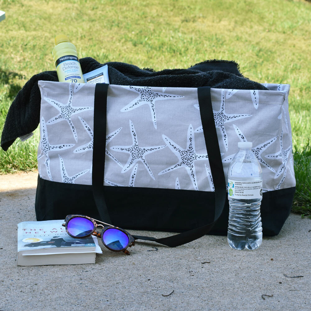 sea'n stars rectangle storage tote