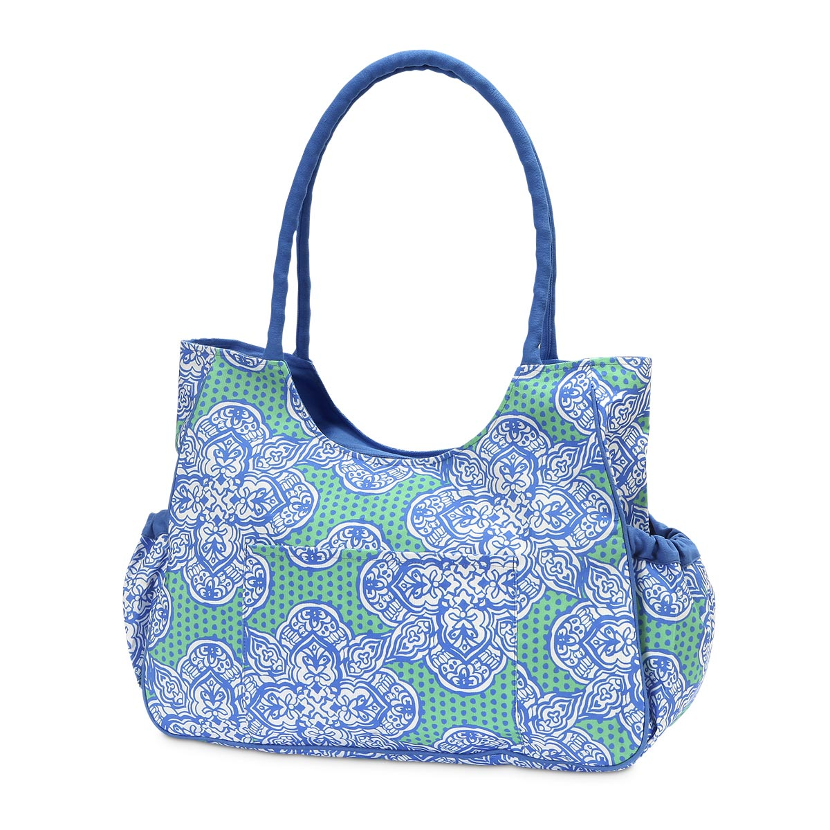 mai tai green/royal beach bag