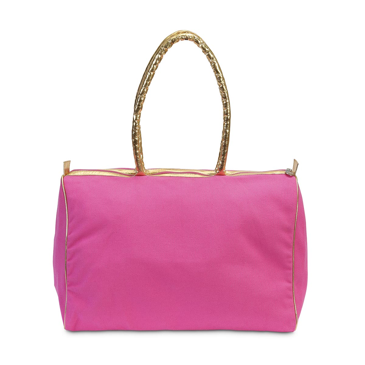 durry beach duffle pink, gold handle