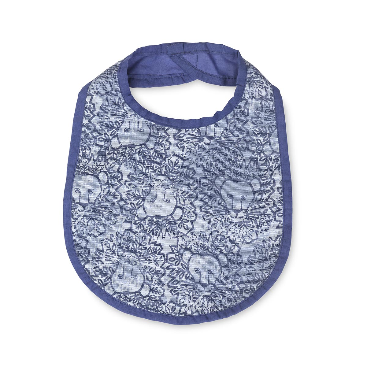 lion around blue bib