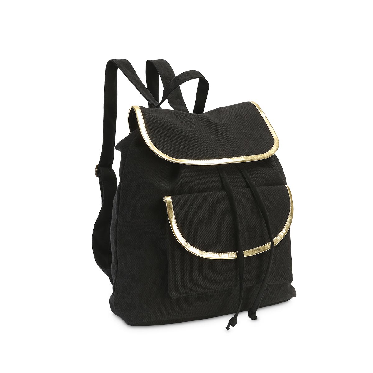 durry backpack black, gold trim
