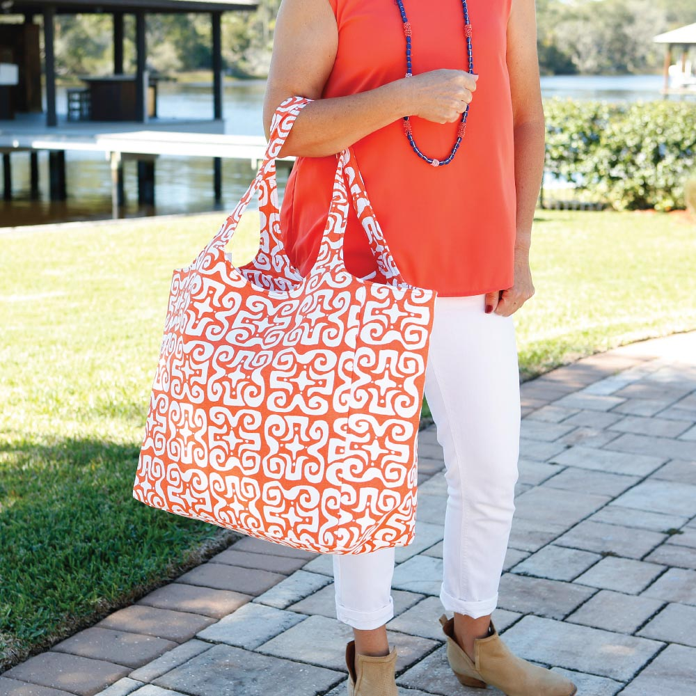 don't fret orange big shot bag