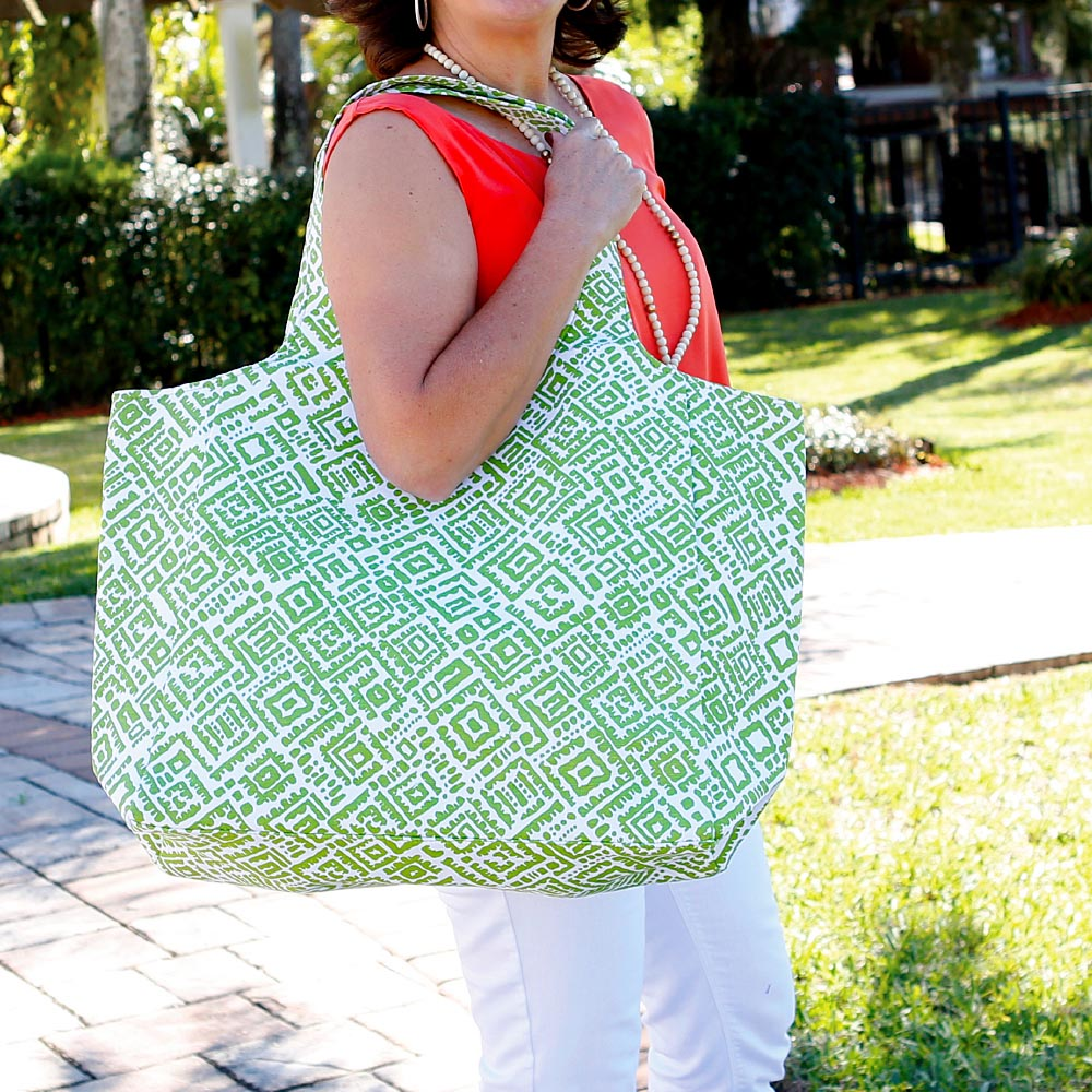 alma lime green big shot bag