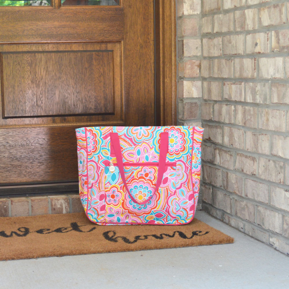 flower power carried away tote