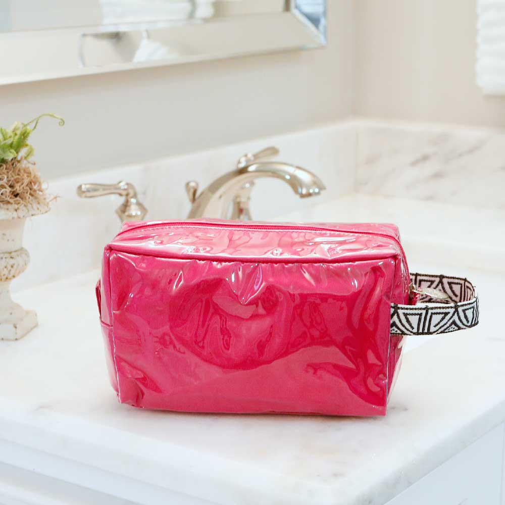 pink cosmetic zipper bag