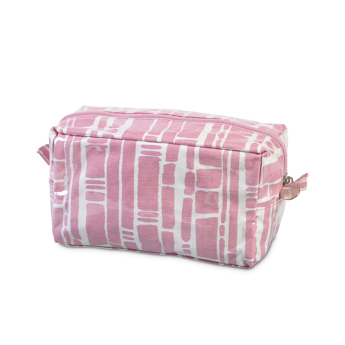 bamboo baby pink zipper cosmetic