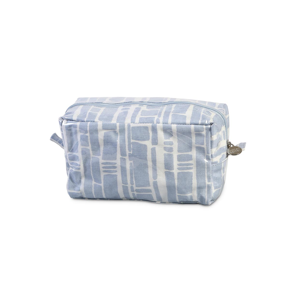bamboo baby blue zipper cosmetic