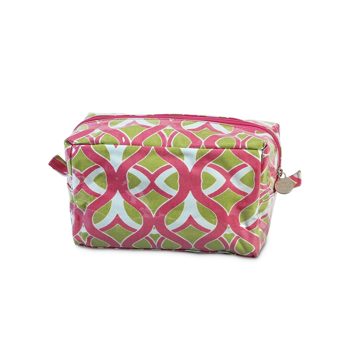 tango twist pink cosmetic zipper bag
