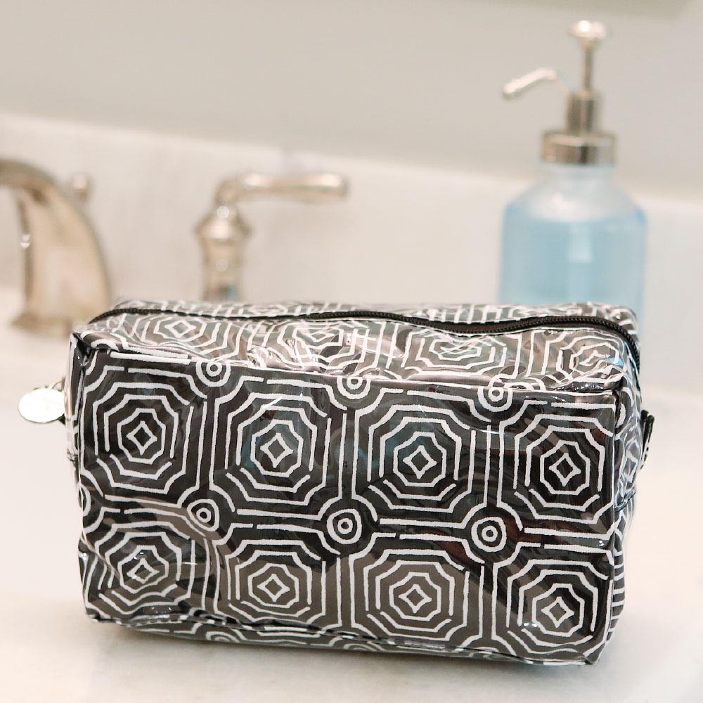 echo black cosmetic zipper bag