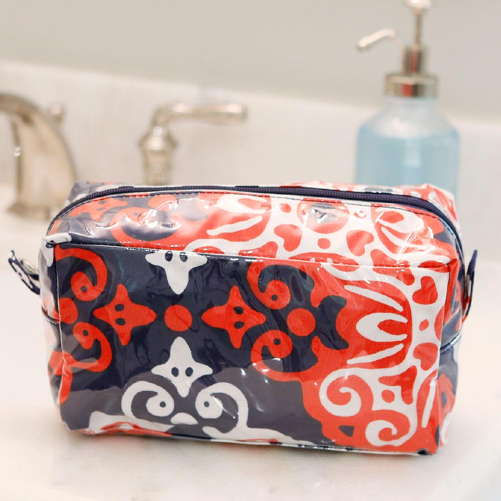 sangria cosmetic zipper bag