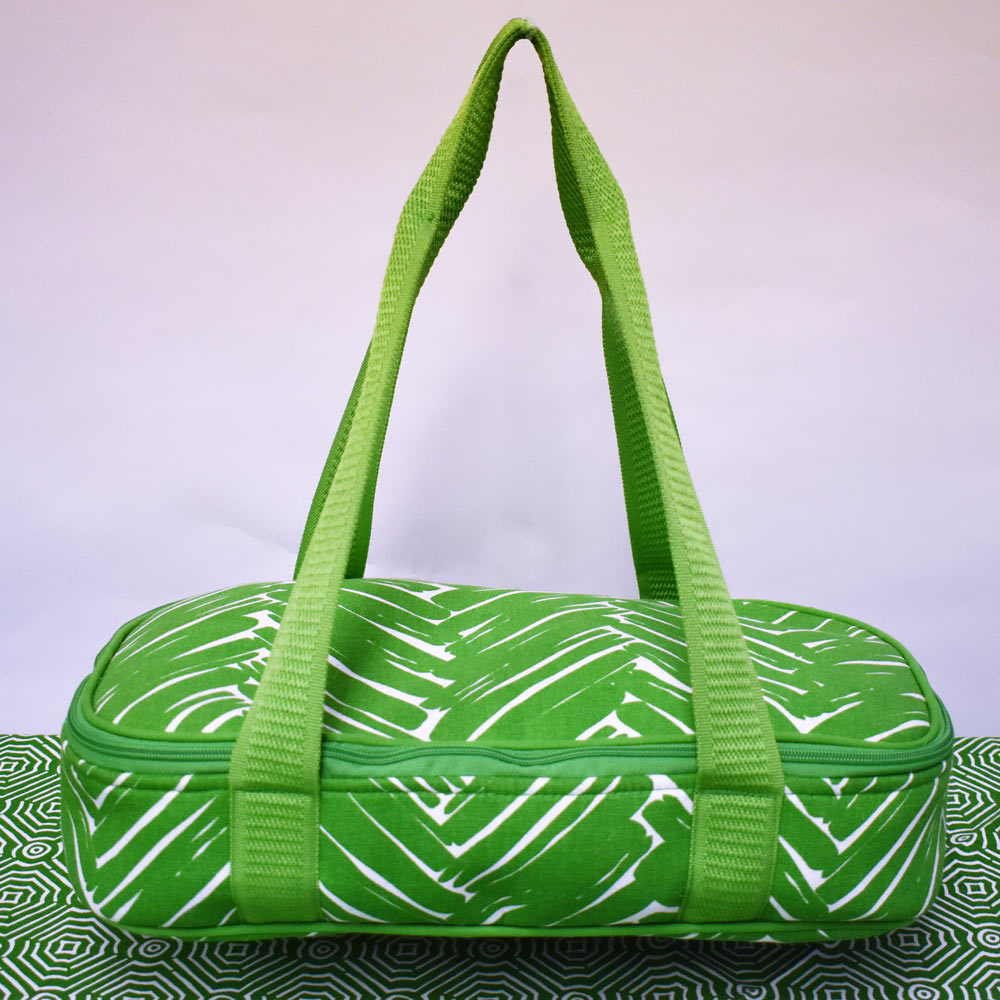twill do green canvas casserole carrier