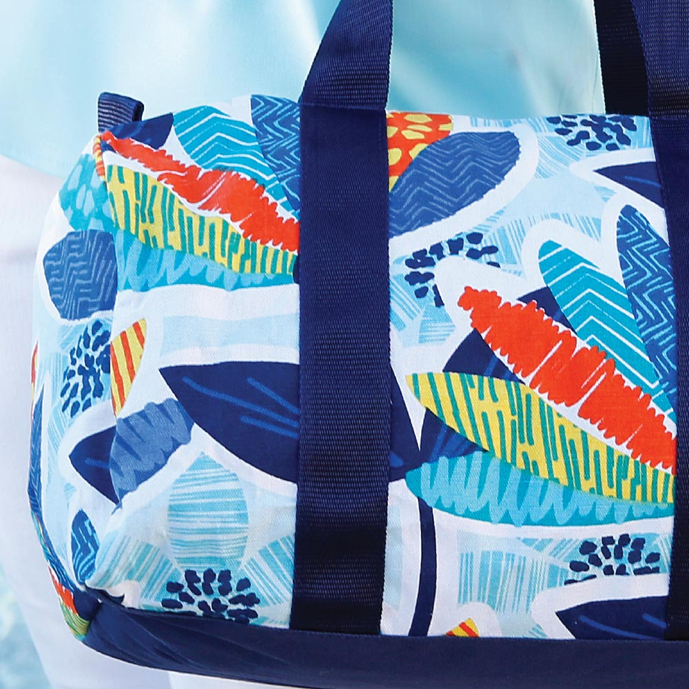 lei'd back laminated duffle