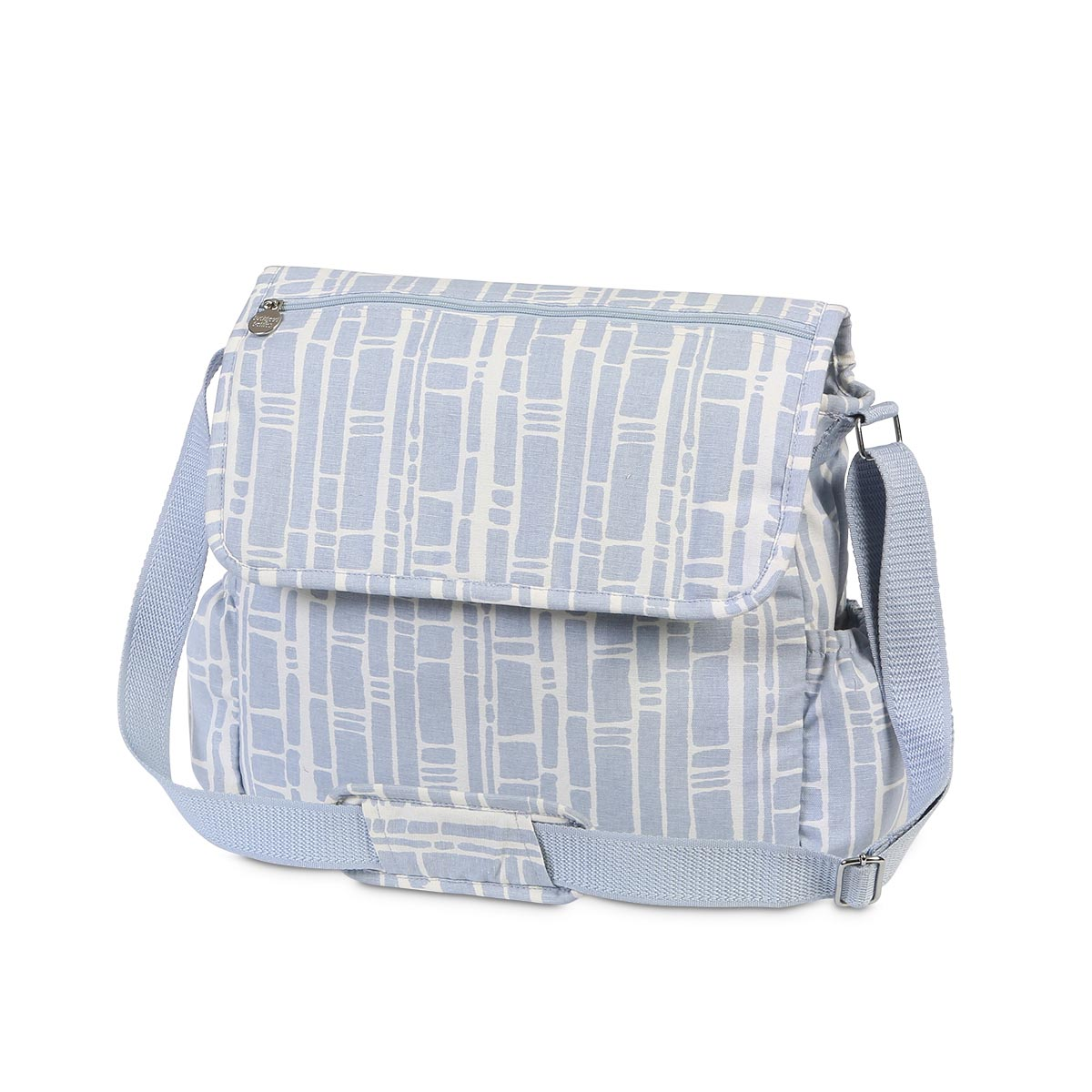 bamboo baby blue diaper bag