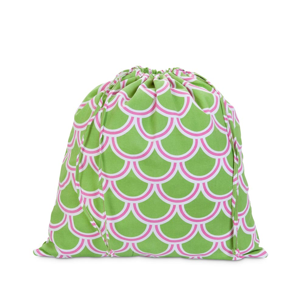 harbor bae green/pink dirty laundry bag