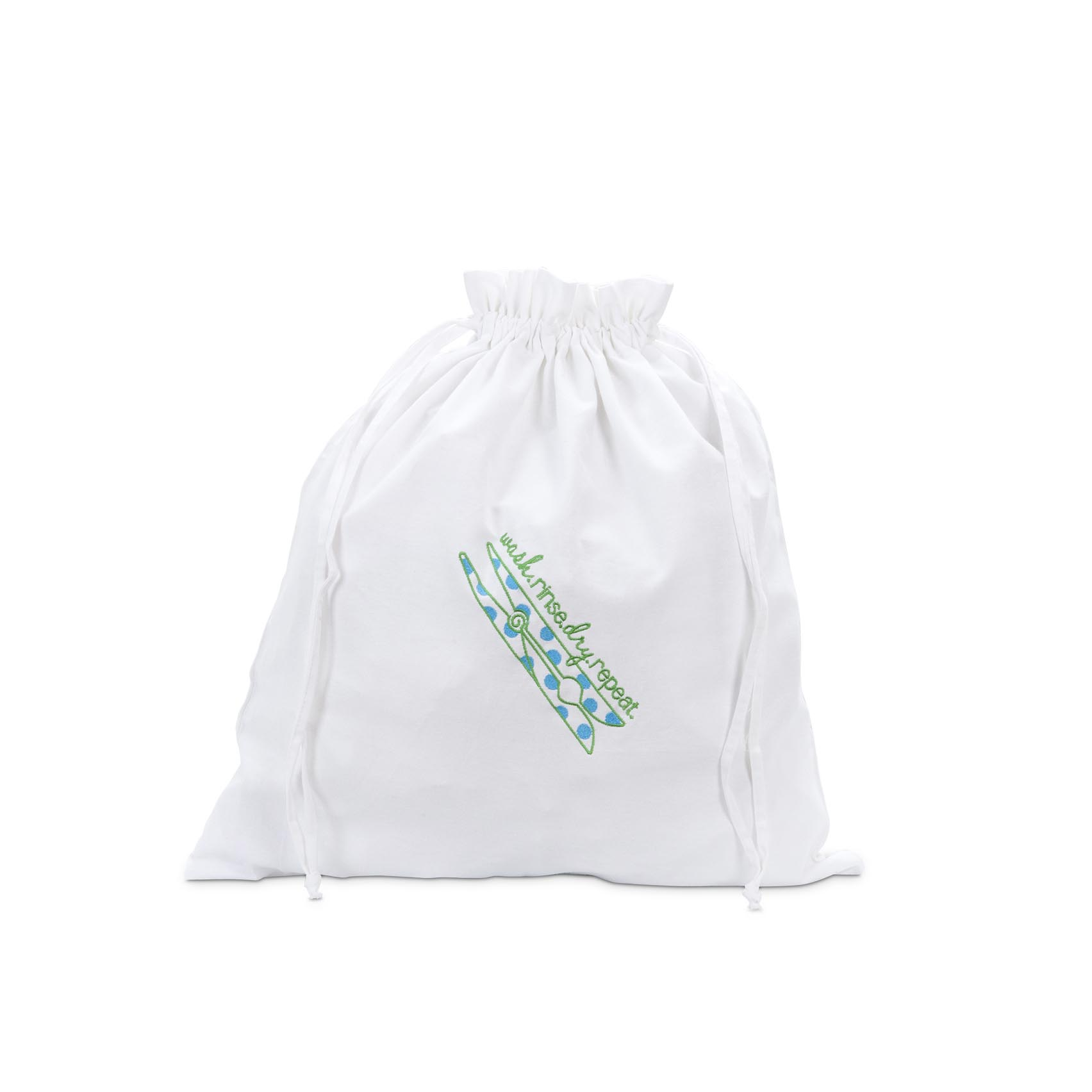 dirty laundry bag - wash, rinse, dry, repeat