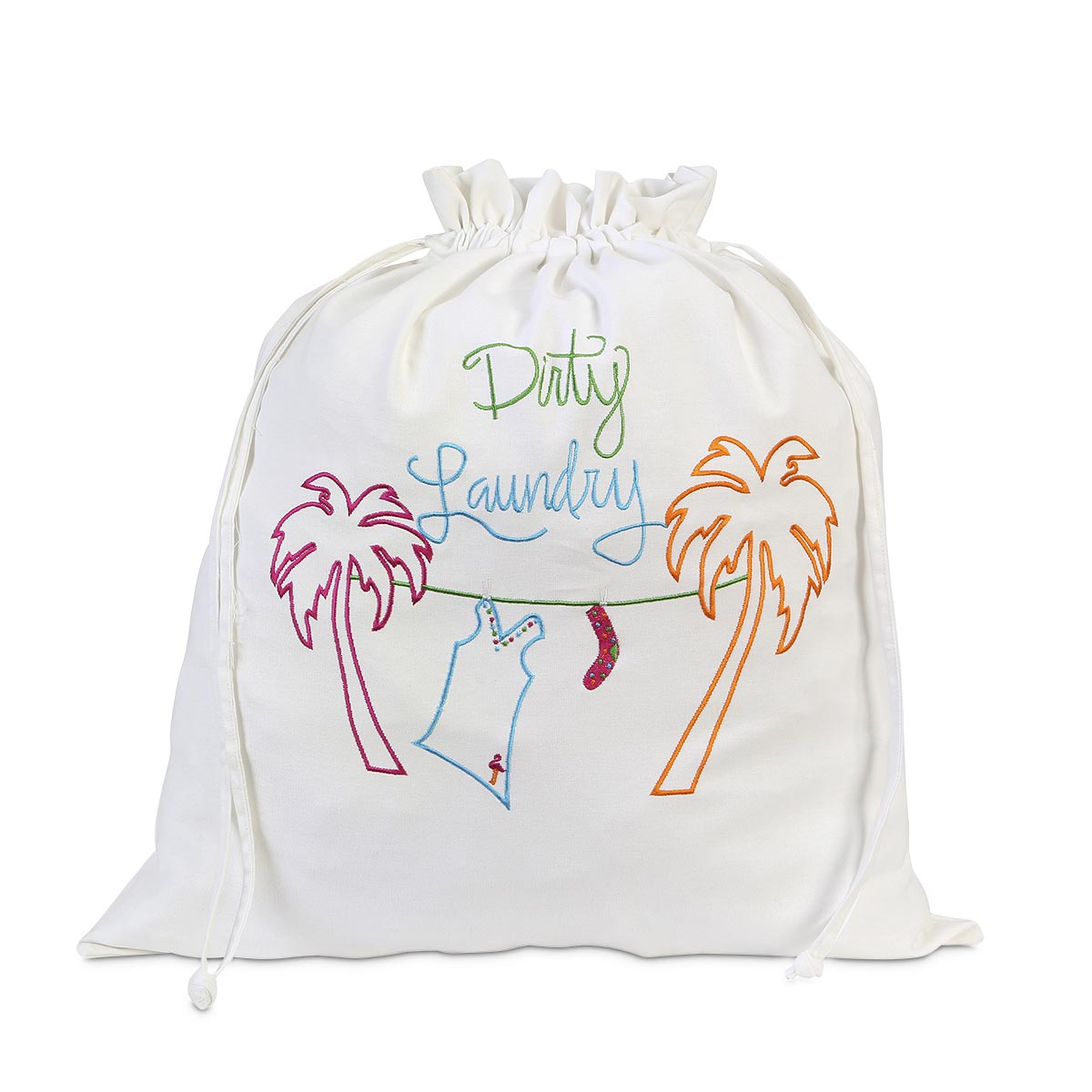 palm tree dirty laundry bag