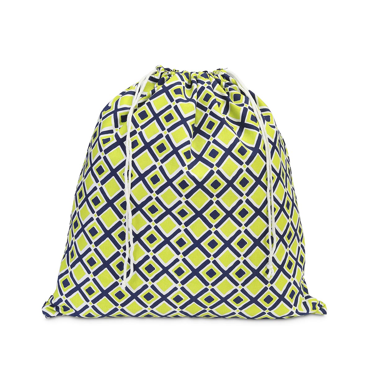 times square navy/lime laundry bag