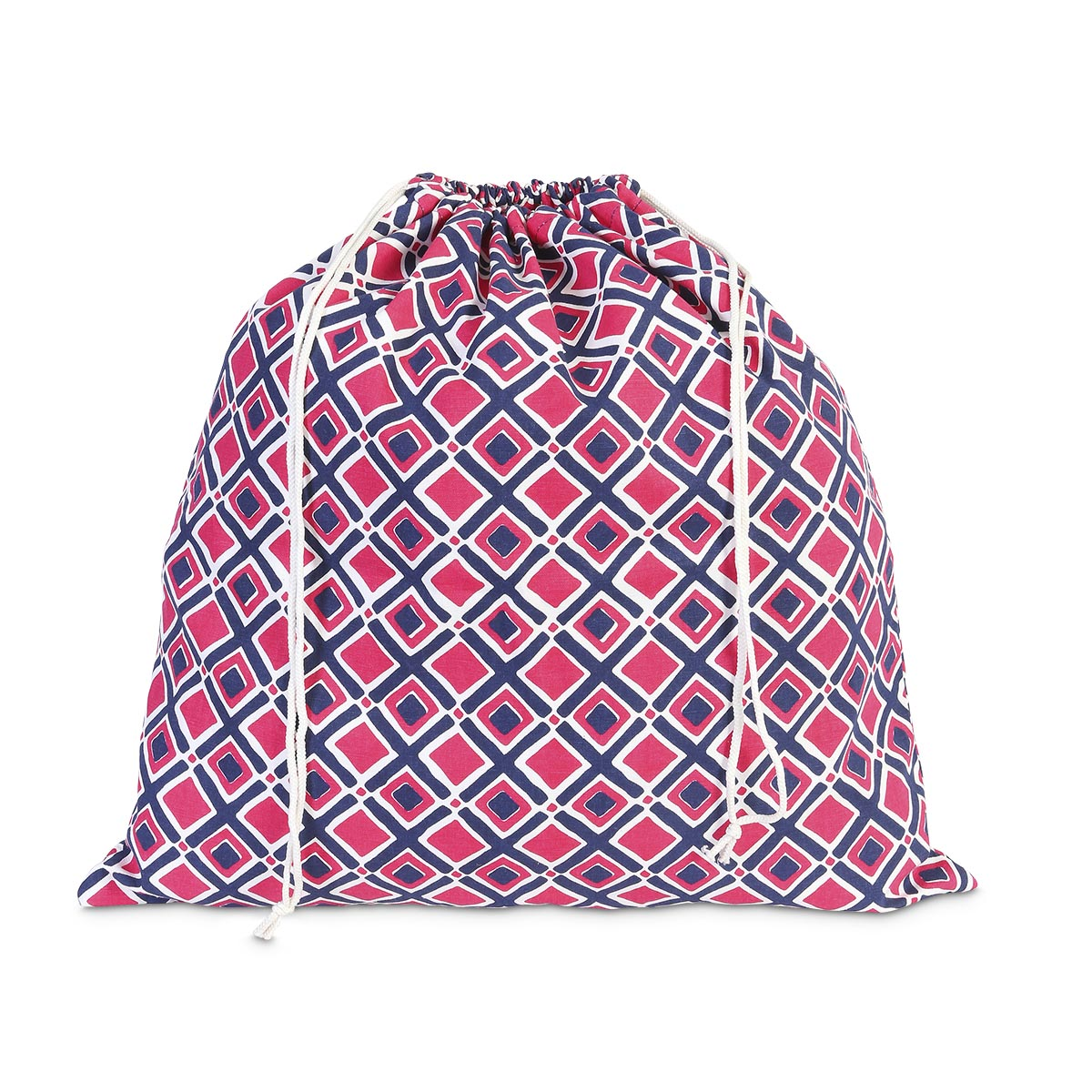 times square navy/pink laundry bag