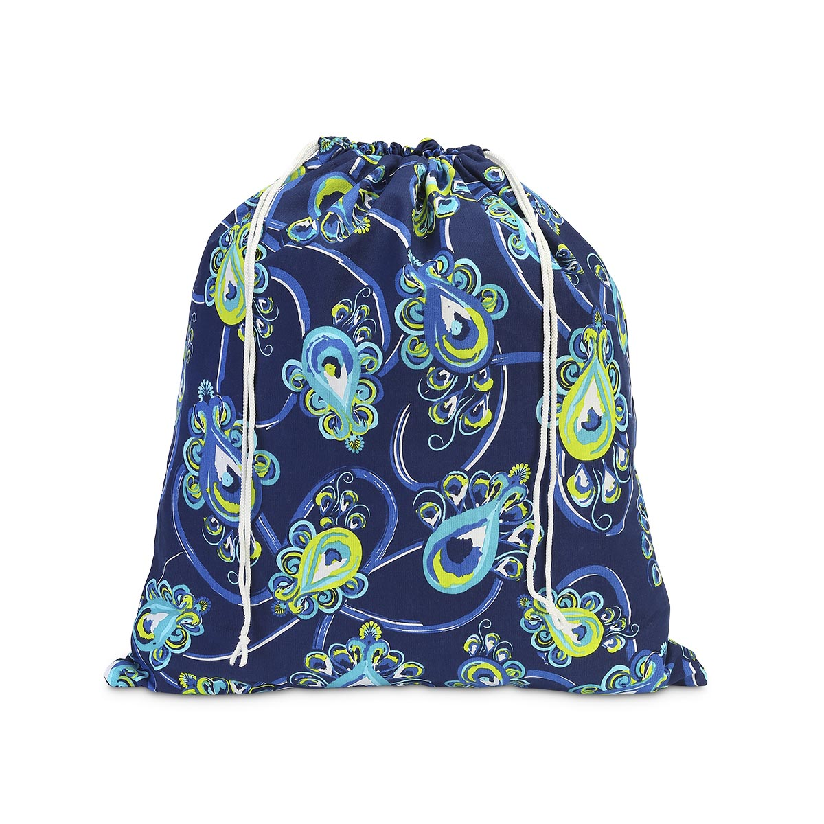 peacock blue laundry bag