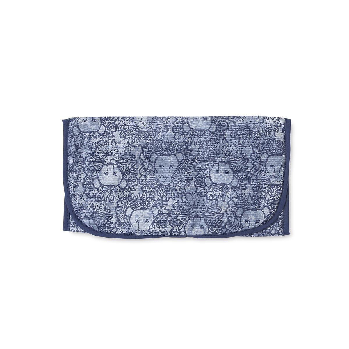 lion around blue changing pad