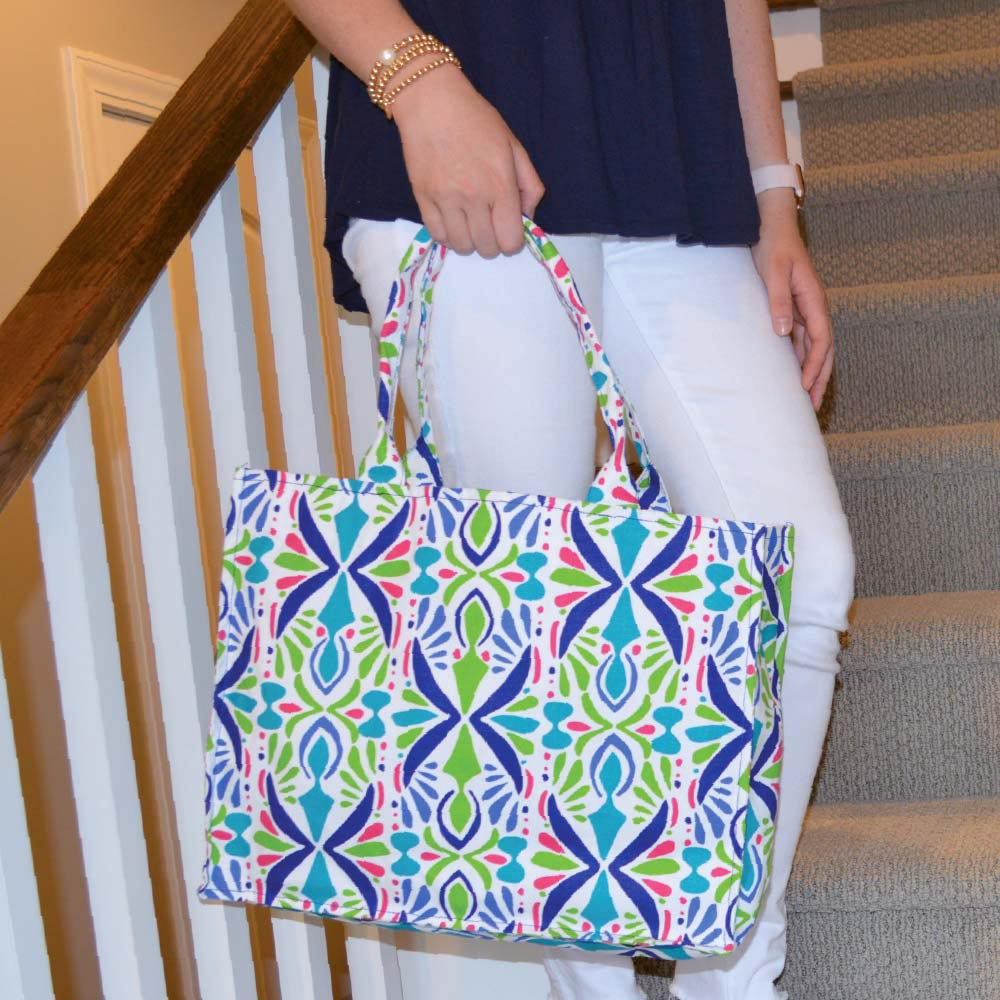 a little off tropic canvas tote