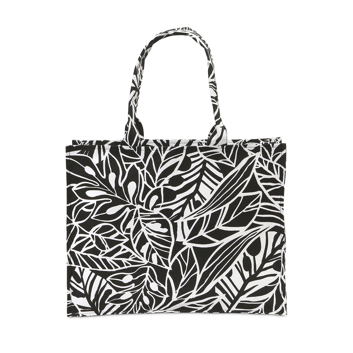 leaf a message canvas tote
