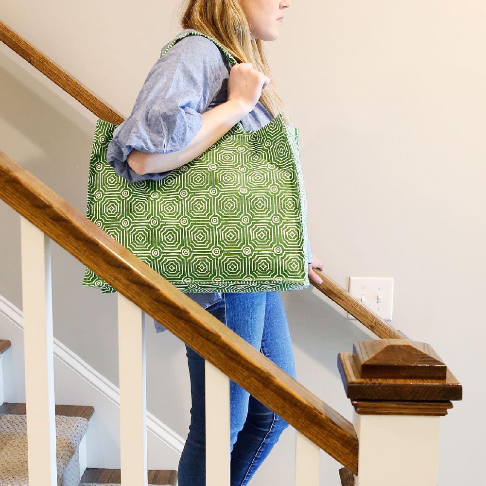 echo green canvas tote